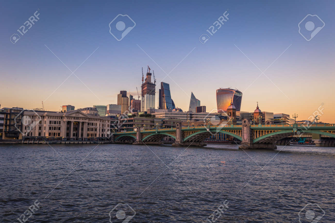 London August 05 2018 The Financial Center Of London By The