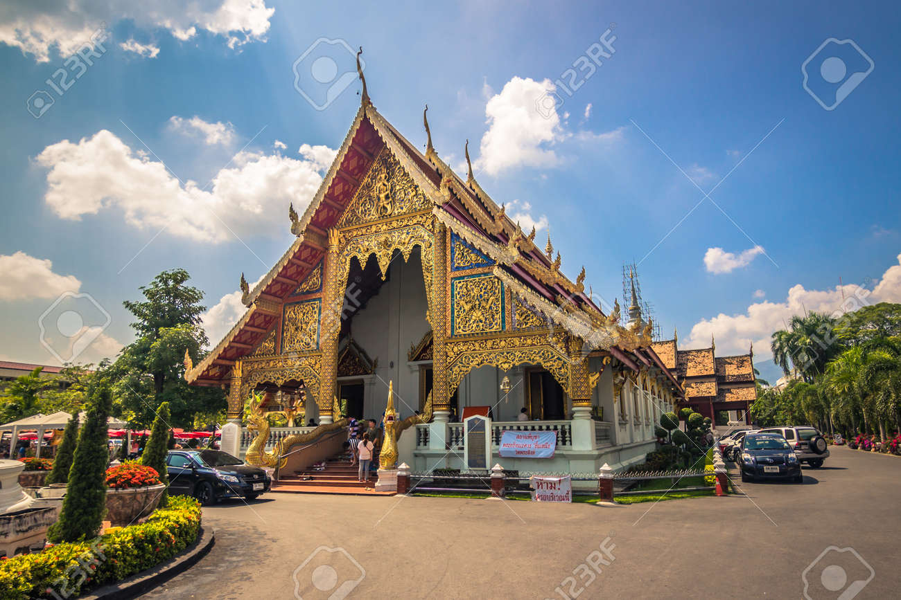 Chiang Mai - October 18, 2014: Buddhist temple in Chiang Mai, Thailand - 108279500