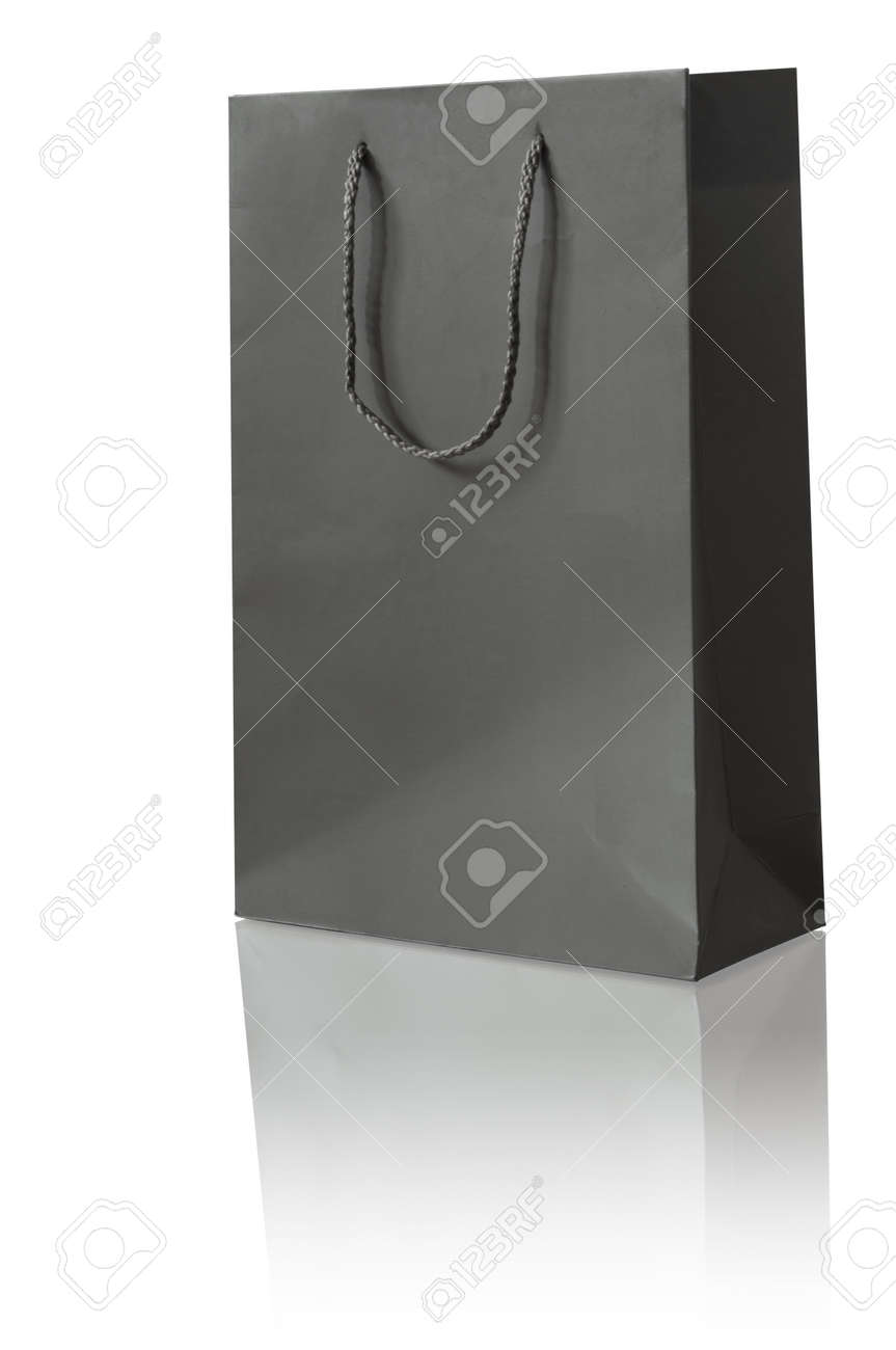 Paper bag activity - Stock Photo Black Paper Bag For Shopping Activity