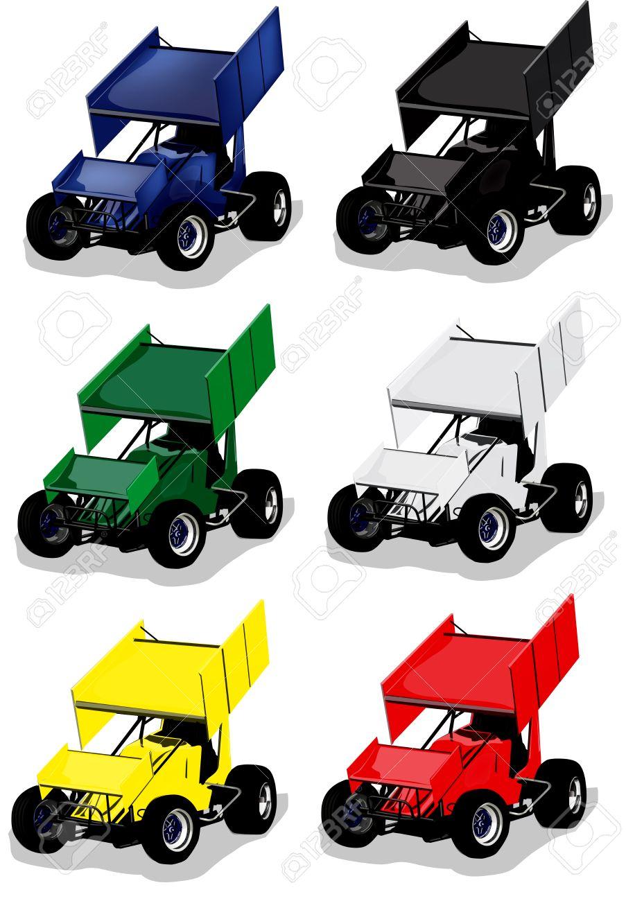sprint car racing vector illustration royalty free cliparts vectors rh 123rf com car vector plan car vector plan