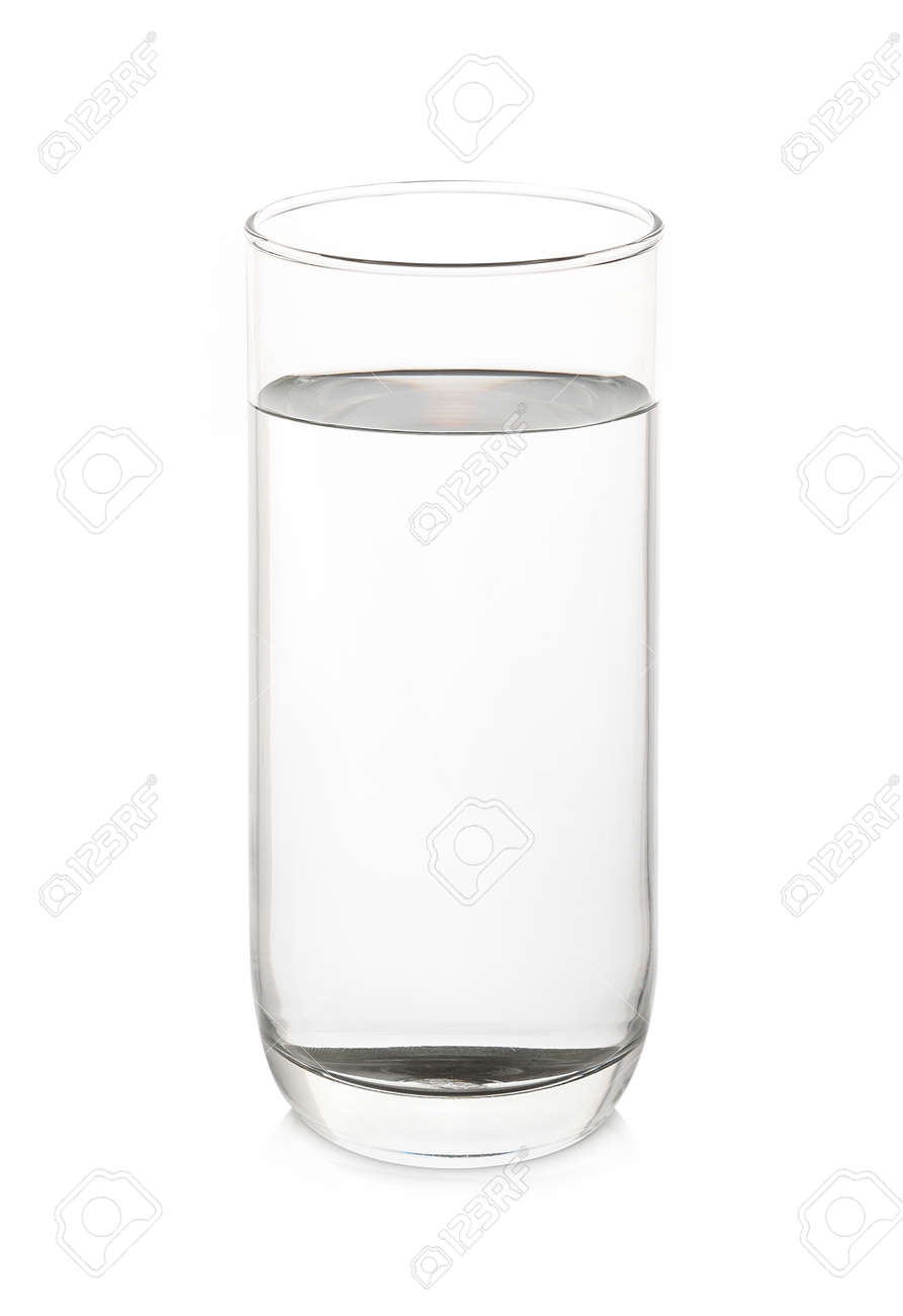 dd1ee24b223 Glass with water on white background Stock Photo - 34935322