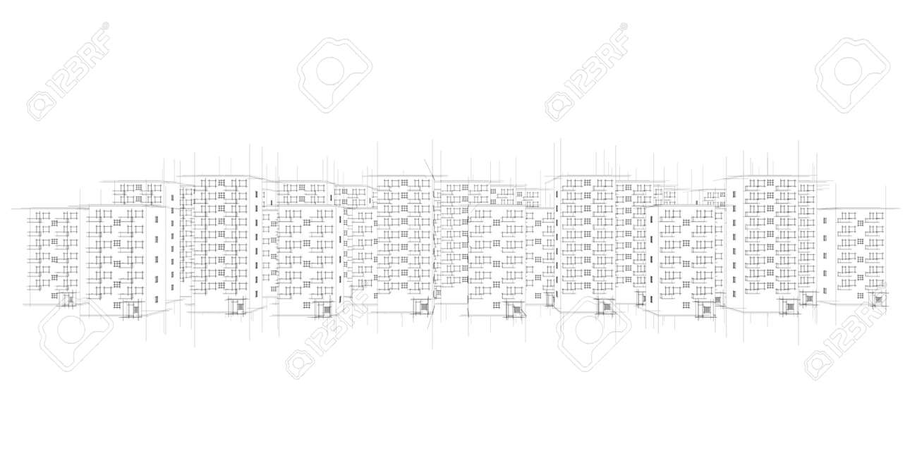 wild illustration of city Stock Illustration - 9797278