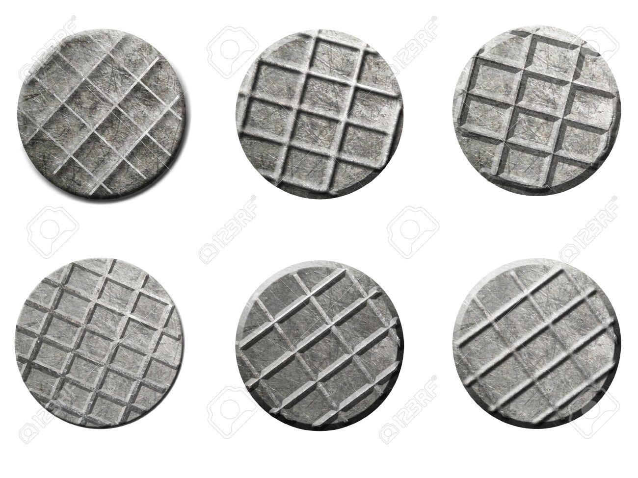 Iron Steel Nail Head Set Illustration Isolated On White Background ...