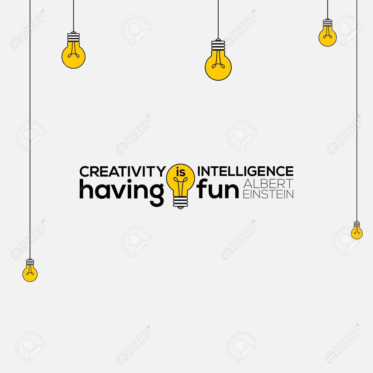 creativity is intelligence having fun wall art, Albert Einstein..