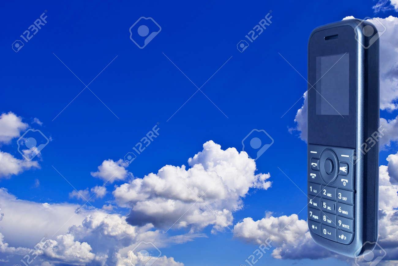 Immagini Stock Il Mobile Telefono Close Up Colore Nero Con