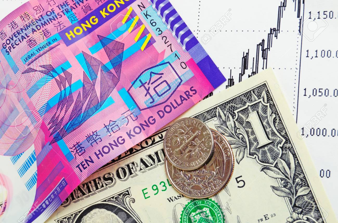 the course of the hong kong dollar to the us dollar stock photo rh 123rf com hong kong to us dollar converter hong kong currency to us dollar