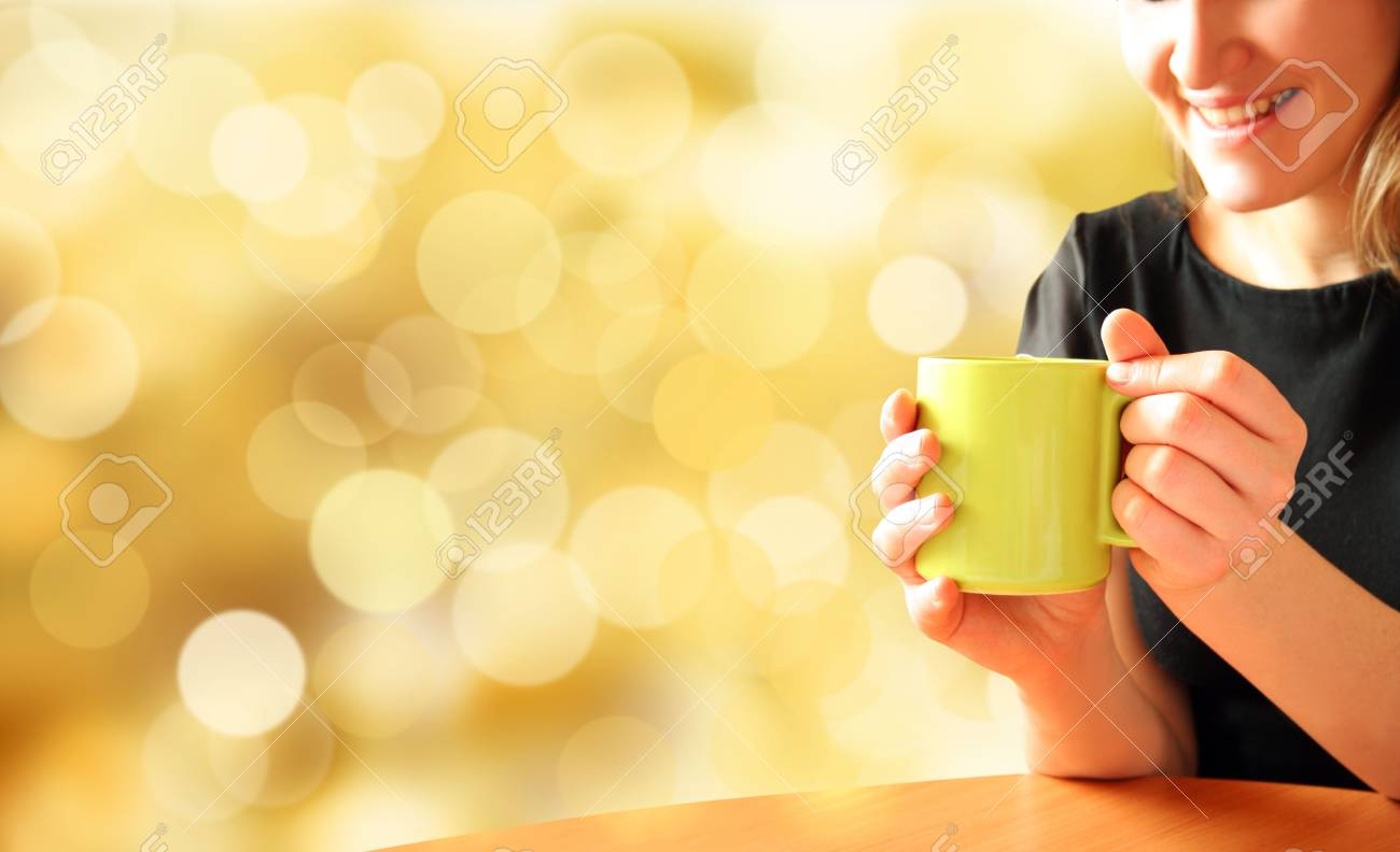 girl for cup of aromatic tea Stock Photo - 4653310