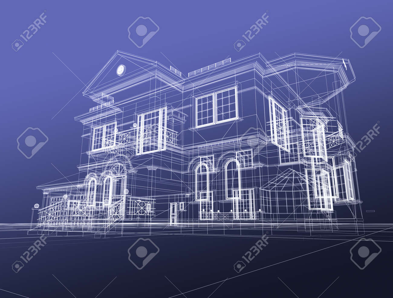 3d Draw House Stock Photo   9406460