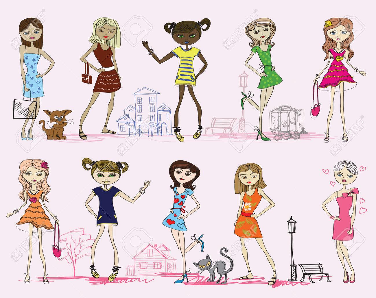 Dessin animé a la mode