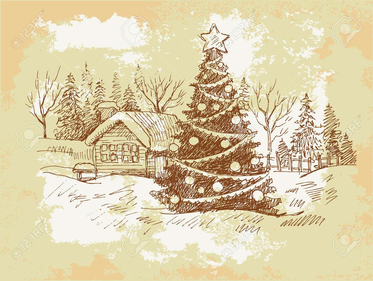 foto de Vintage Christmas Card . Royalty Free Cliparts, Vectors, And Stock ...