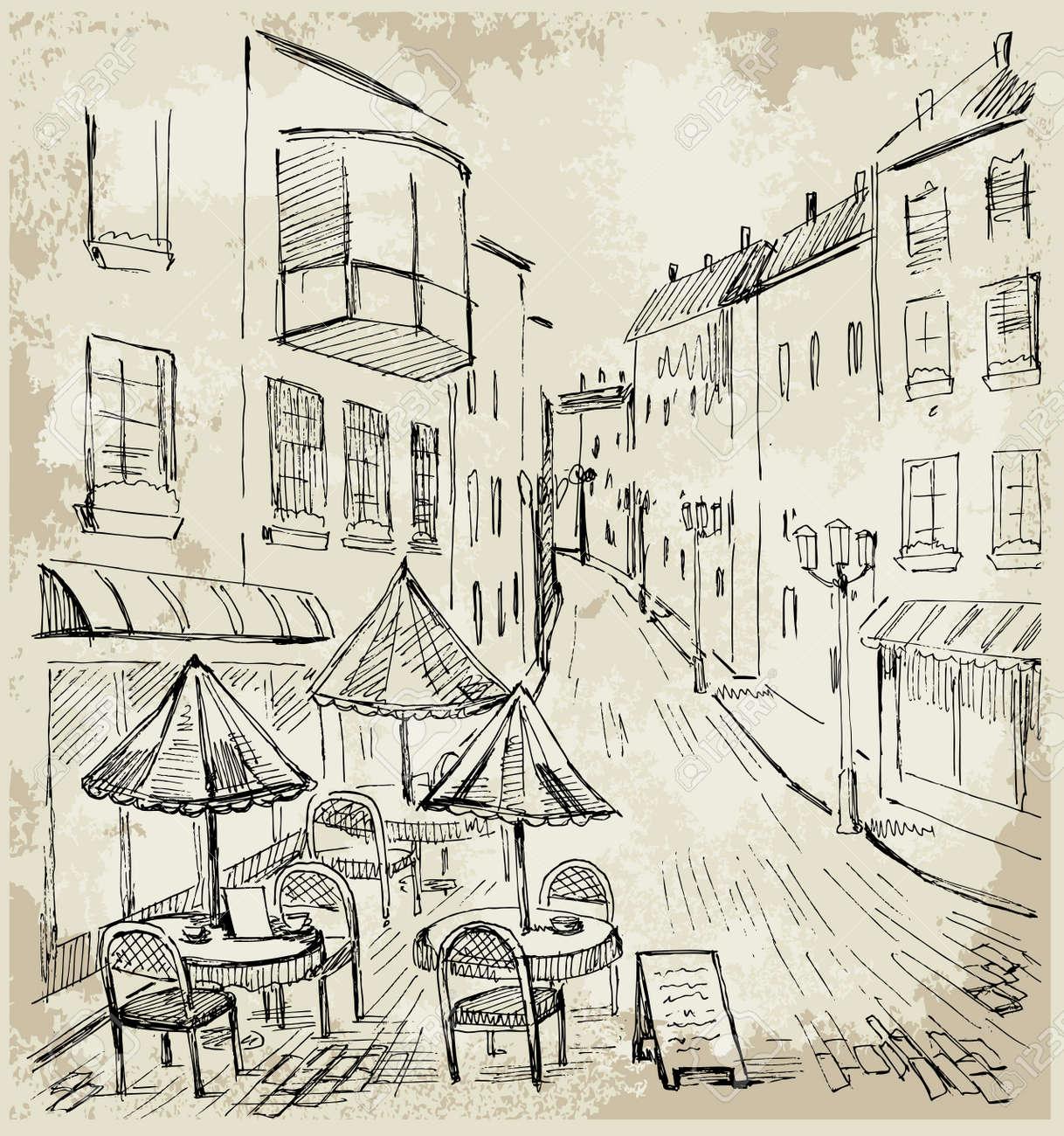 Street cafe Stock Vector - 10982343