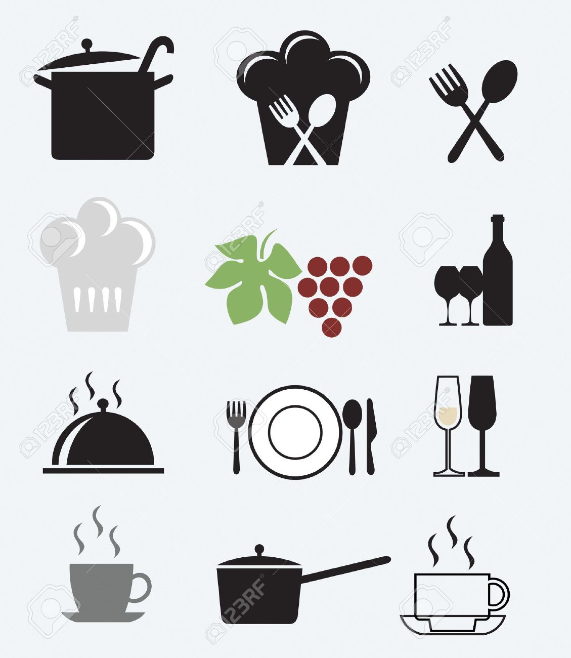 Icons set for restaurant, cafe and bar Stock Vector - 11087692