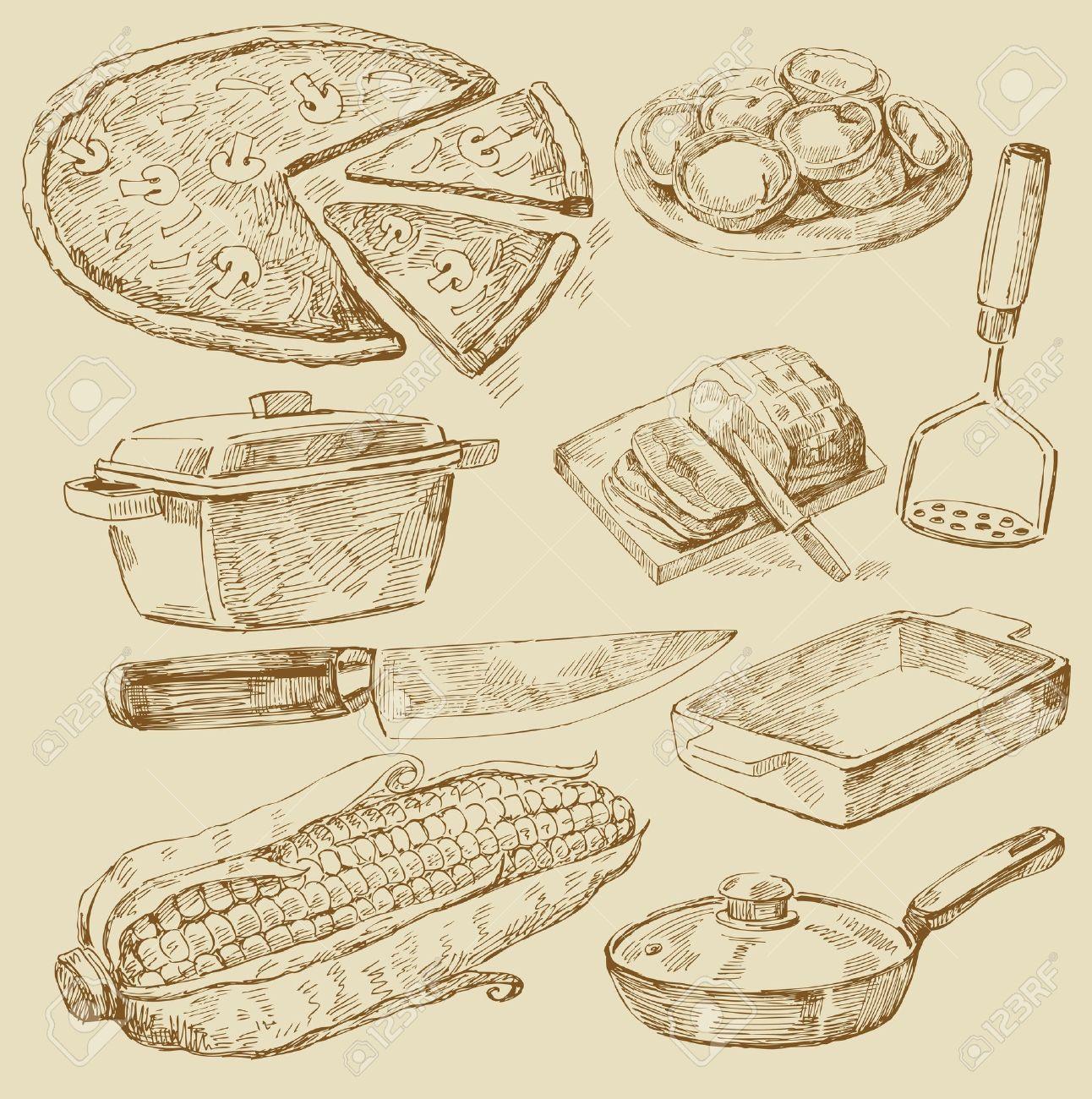 cooking doodles Stock Vector - 13043682