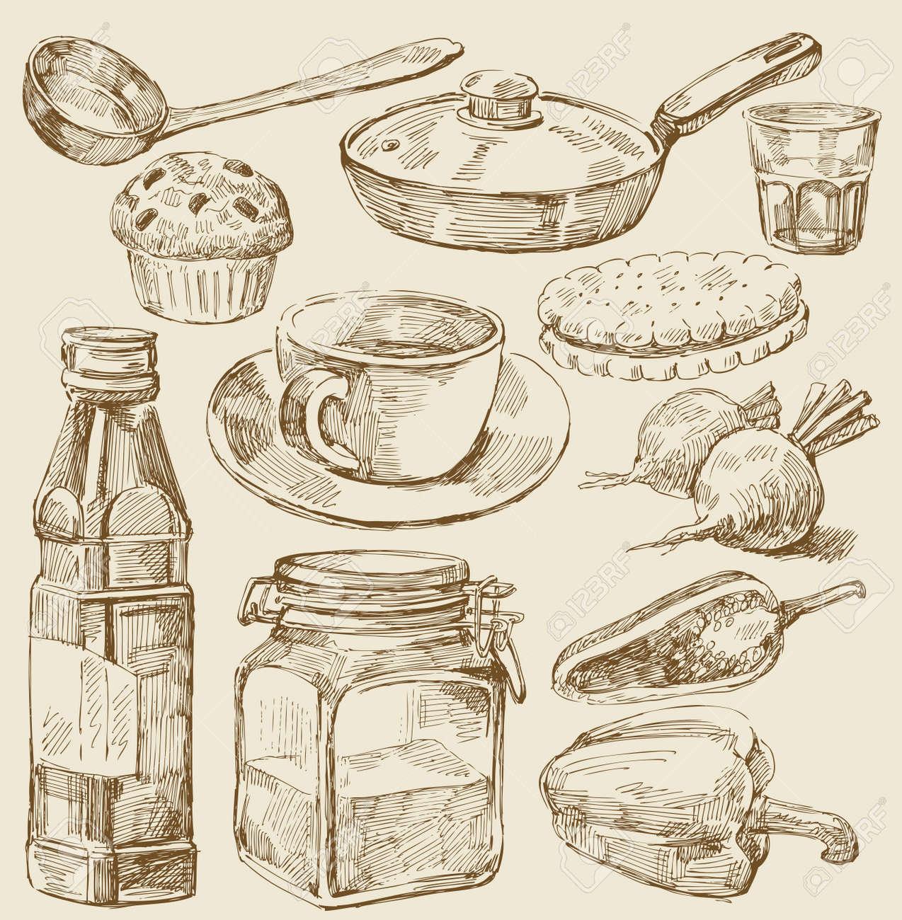 kitchen set Stock Vector - 13180679