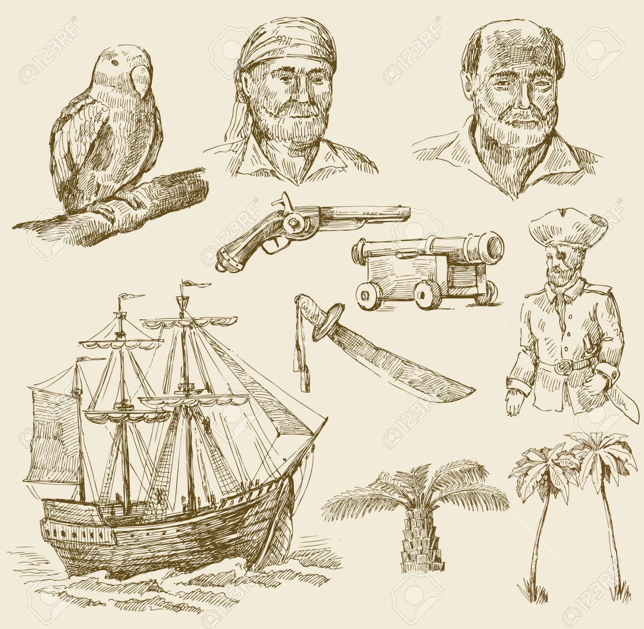 pirates set Stock Vector - 13180688