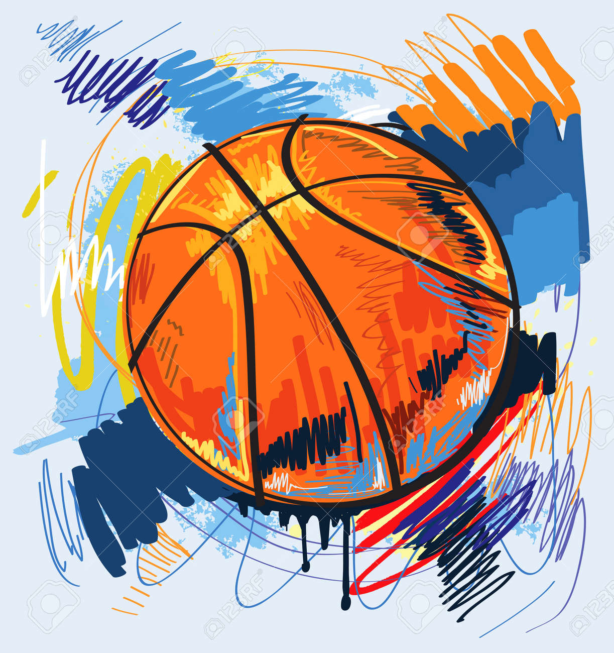 basketball design color background royalty free cliparts vectors