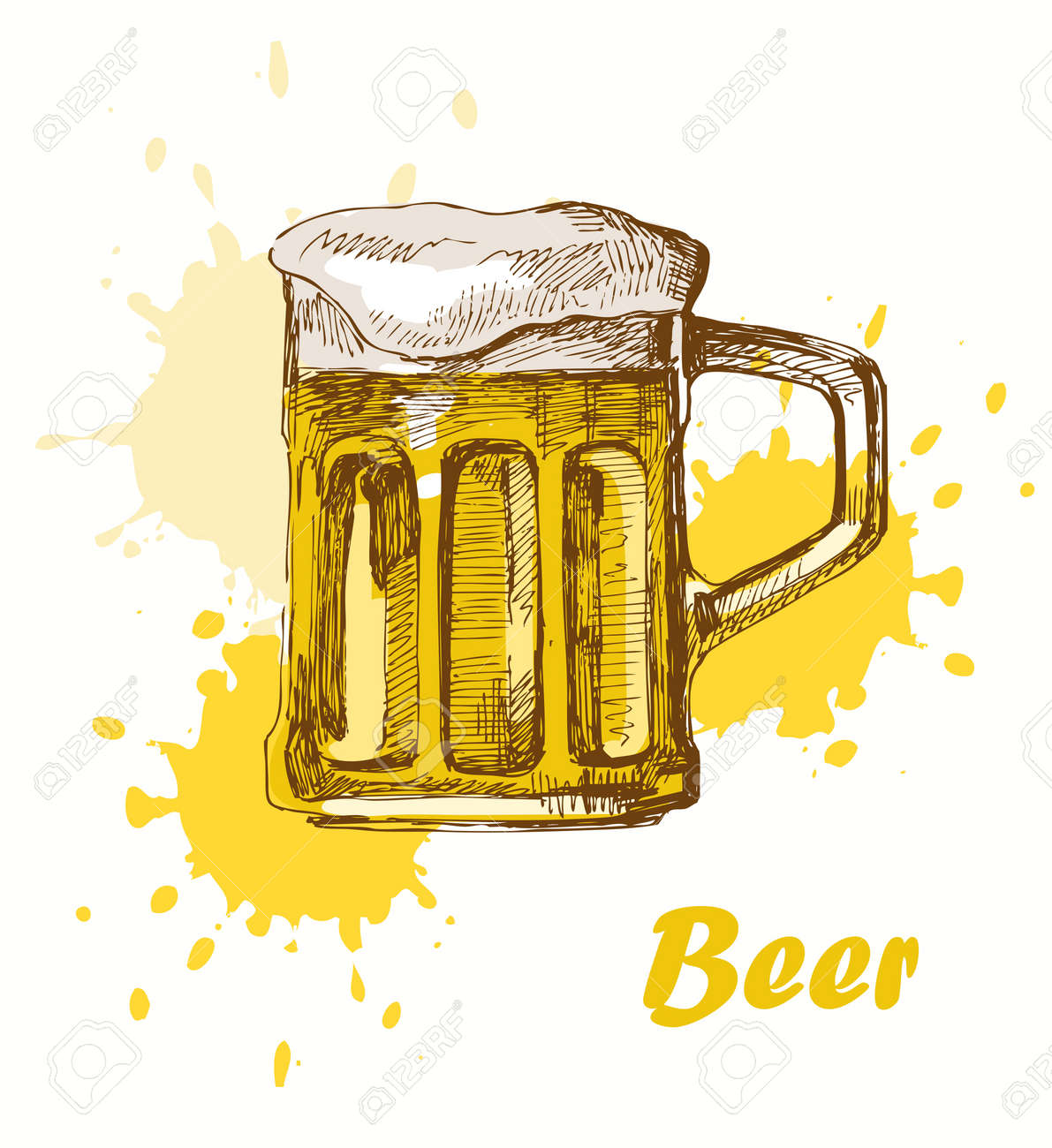 Hand Draw Beer Royalty Free Cliparts Vectors And Stock