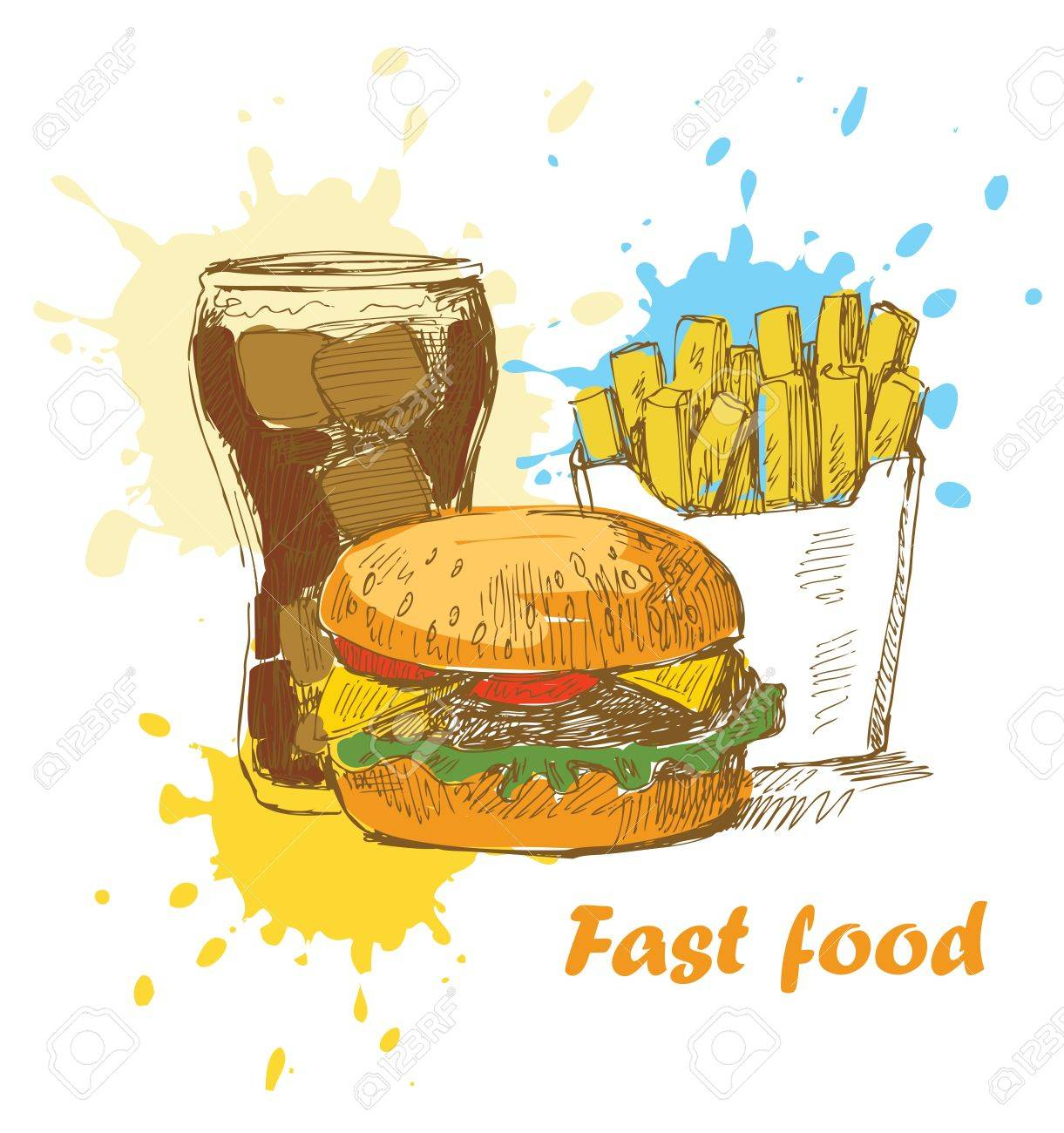 fast food background Stock Vector - 13941032