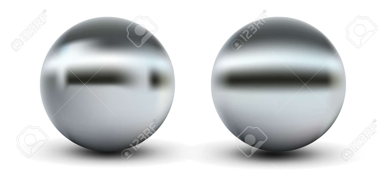 Chrome sphere grey with gradient mesh Stock Vector - 13986535