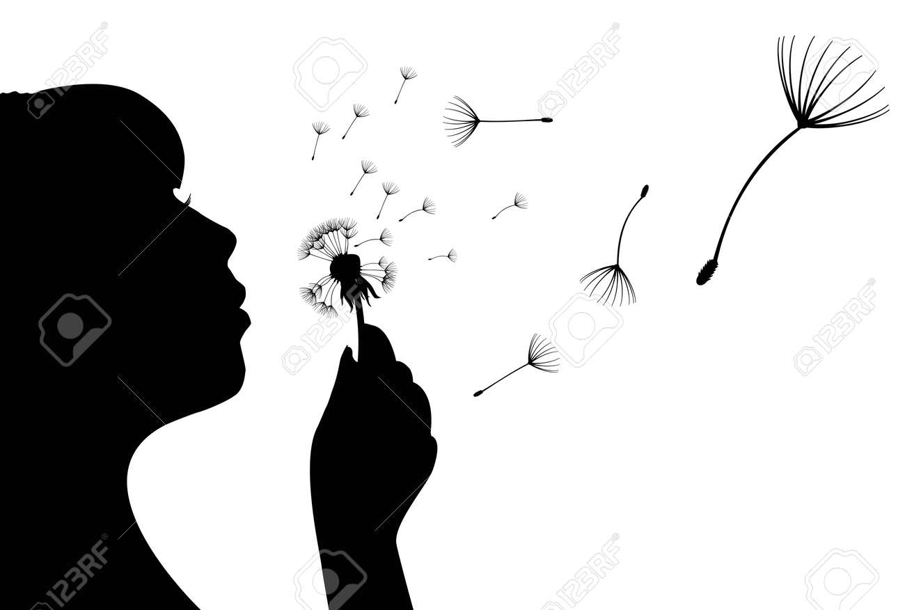 Vector illustration of silhouette of a girl Stock Vector - 13986536
