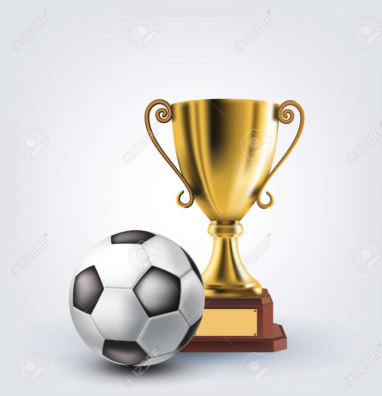 ball and trophy Stock Vector - 14226714