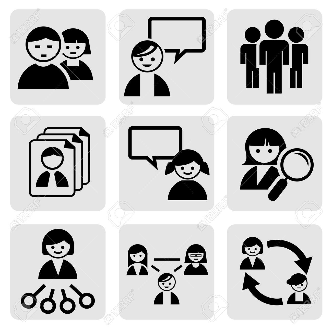 People icons Stock Vector - 14256065