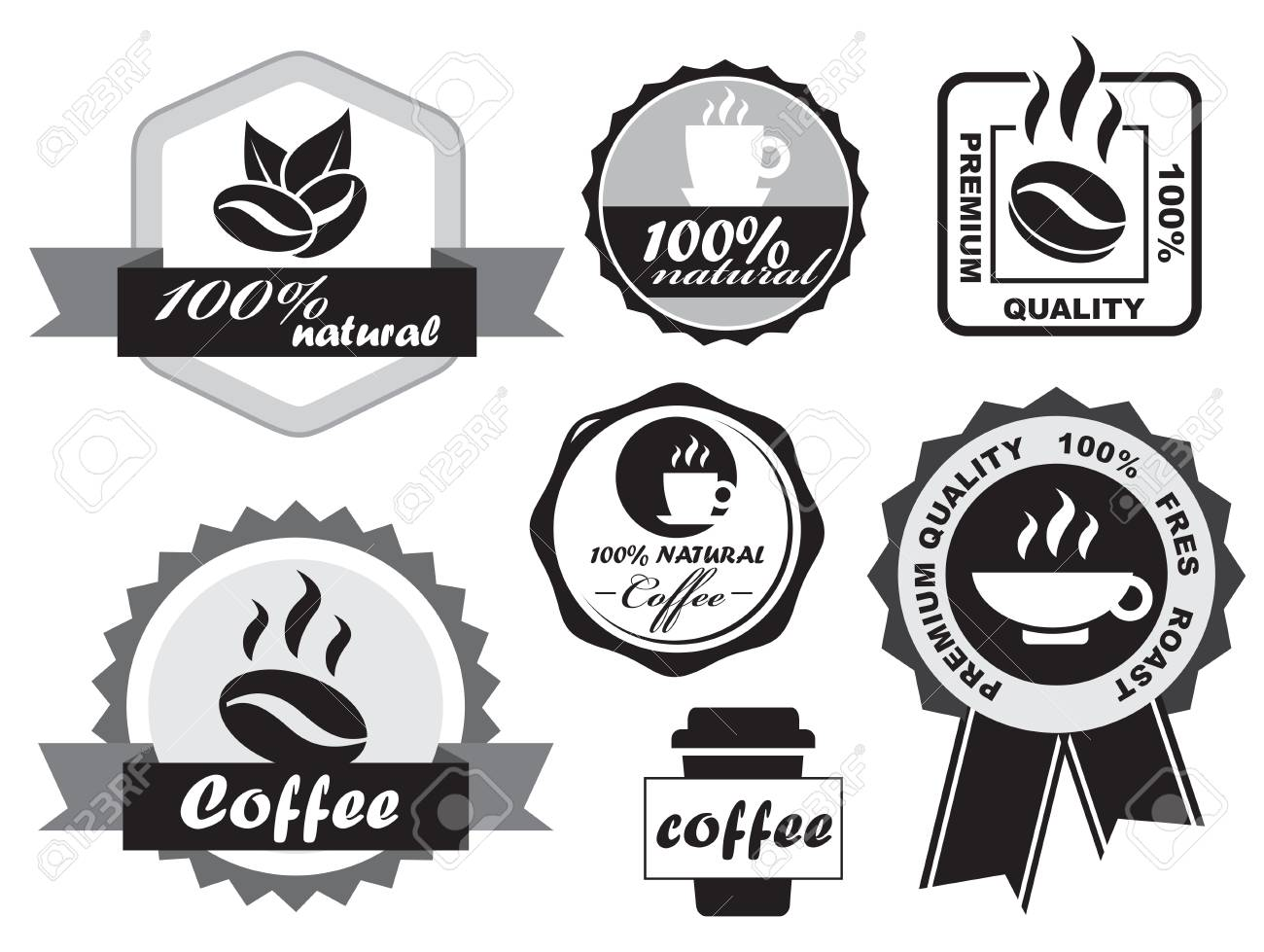Coffee Labels Stock Vector - 14256063