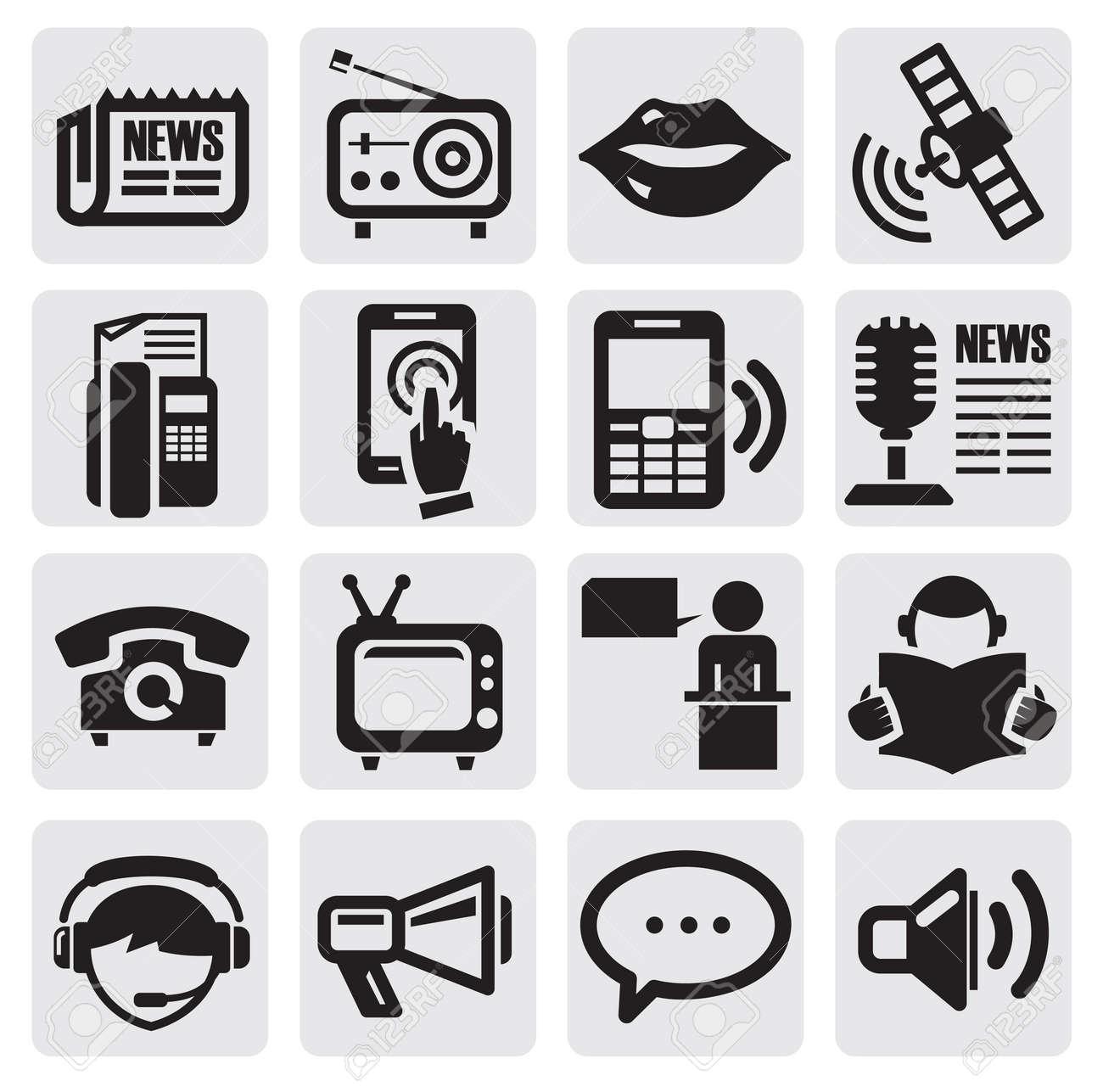 social media icons Stock Vector - 14855814