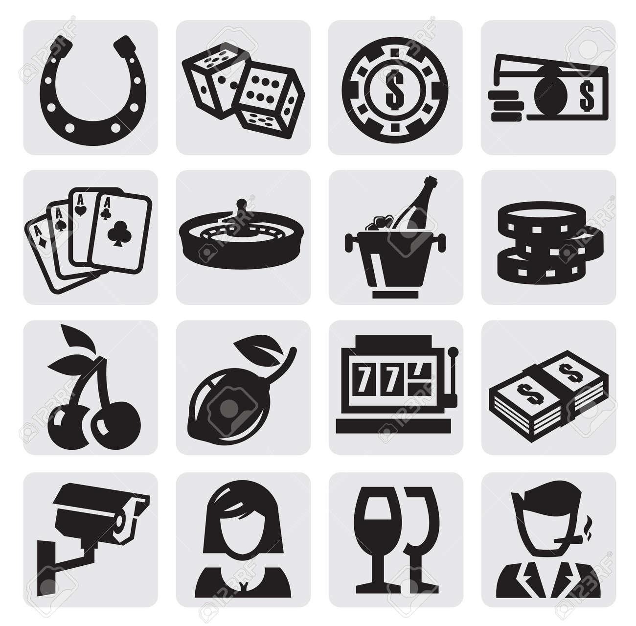 casino icons Stock Vector - 15088553