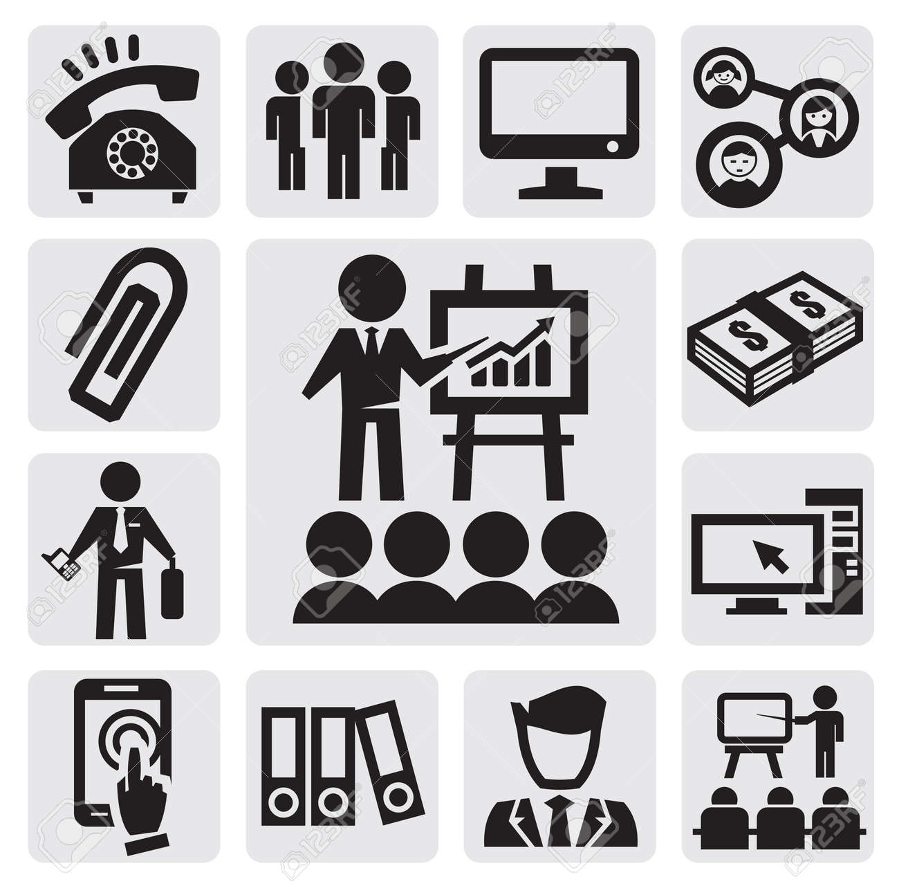 office and business icons Stock Vector - 15088569