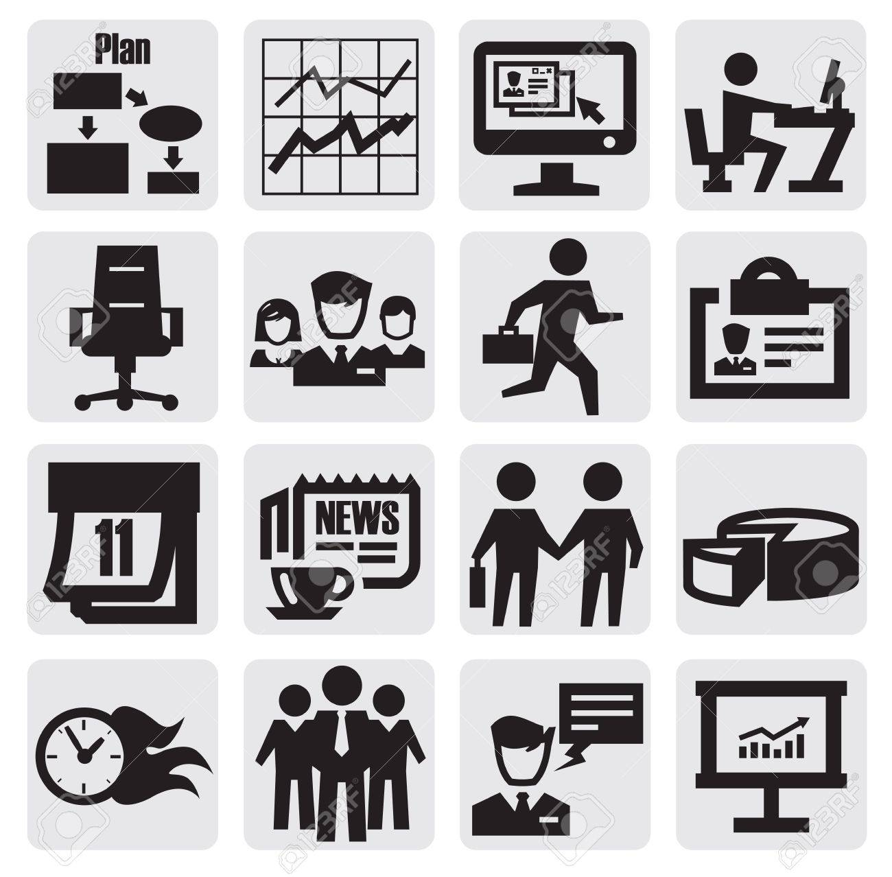 business icon Stock Vector - 15222479