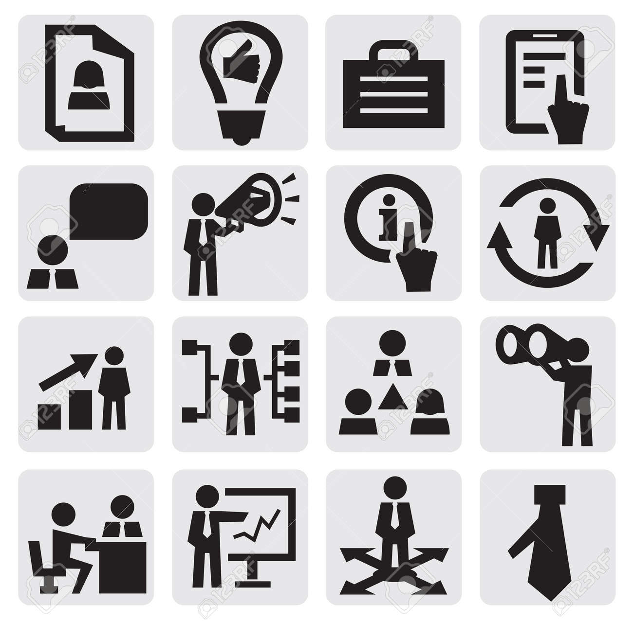 business icon Stock Vector - 15299584