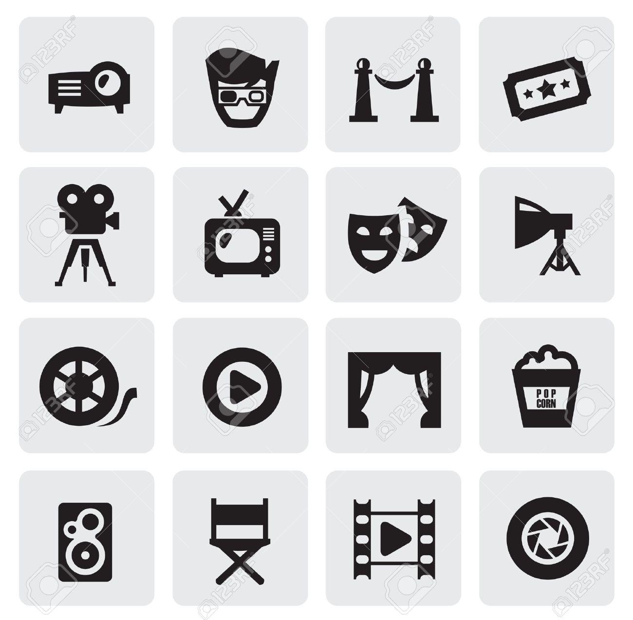 movie icons Stock Vector - 15893757