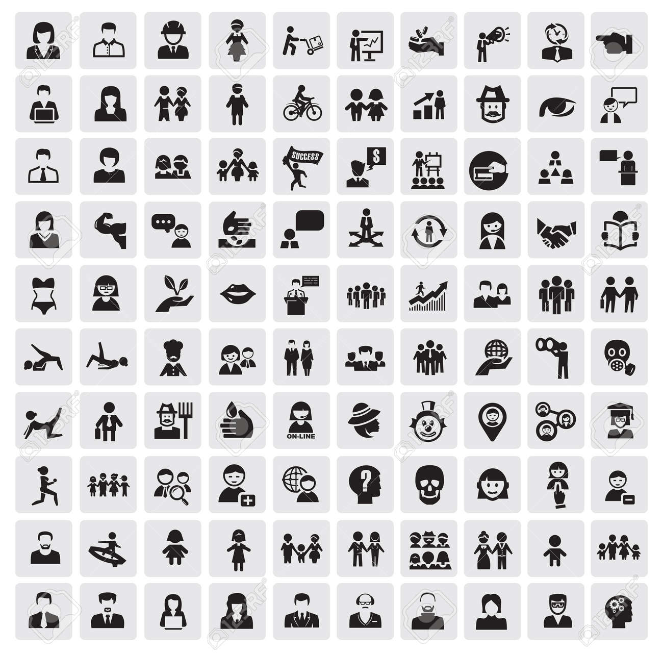 people icons Stock Vector - 16054941