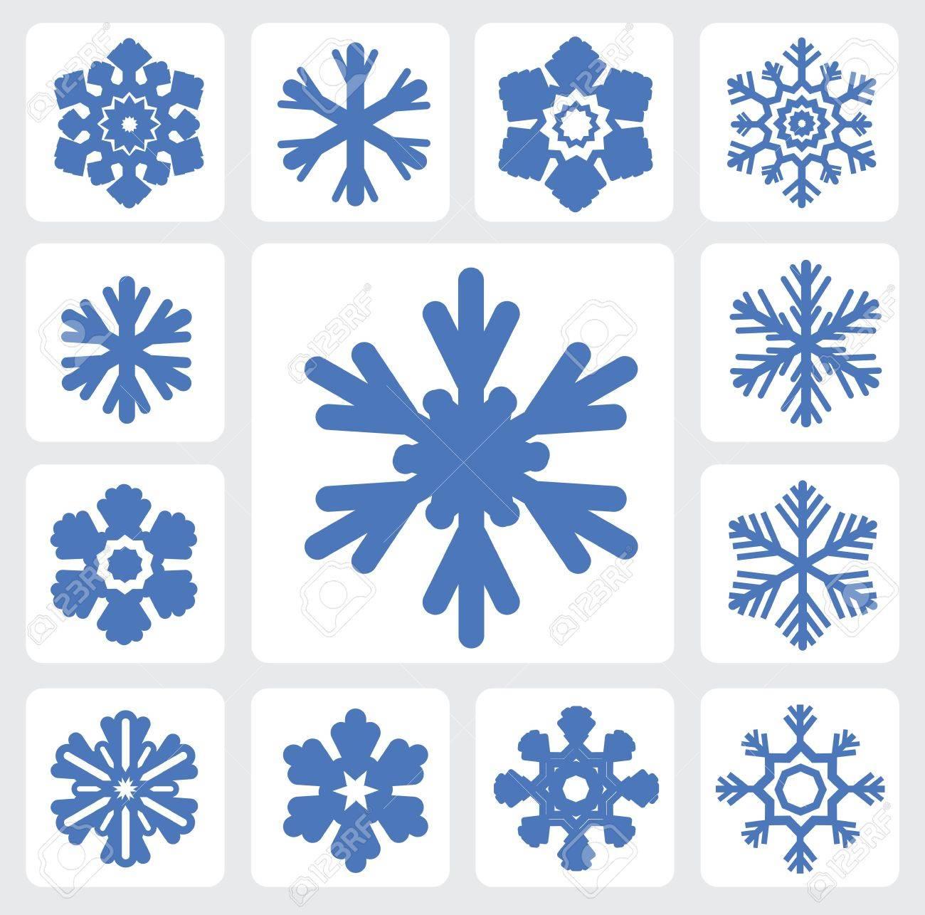 Snowflakes icon Stock Vector - 16135423