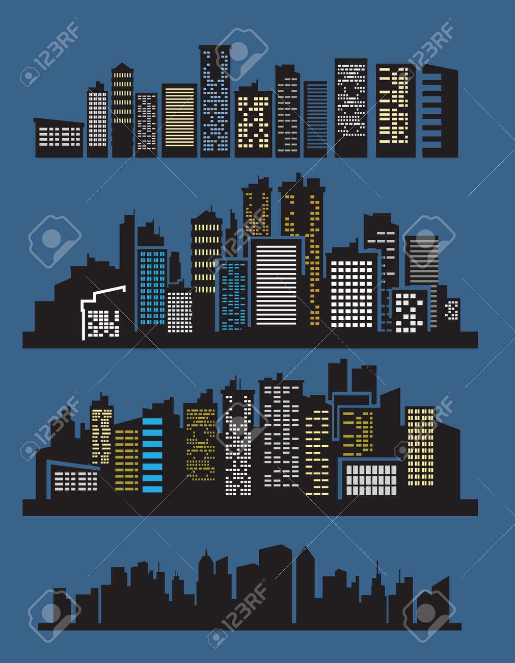 night city Stock Vector - 16359126