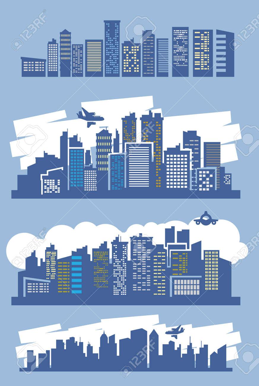 blue city Stock Vector - 16359143
