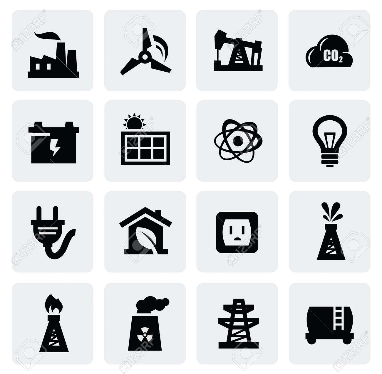 energy icon set Stock Vector - 16725717