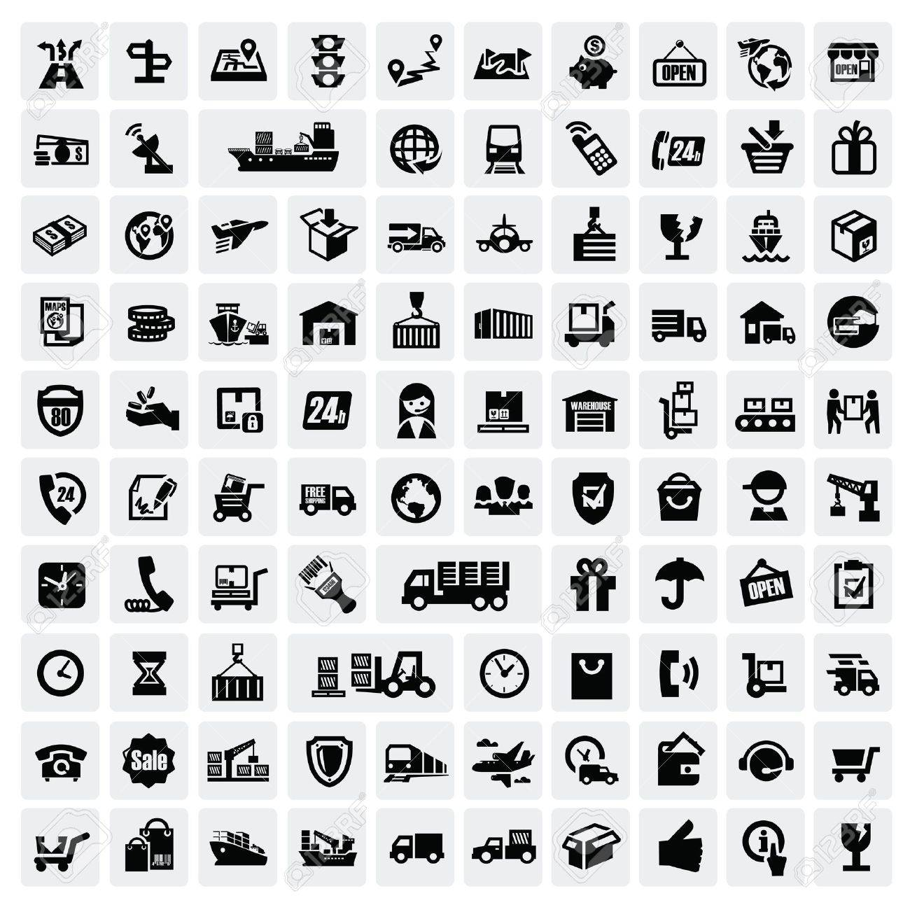 logistic and shipping icons Stock Vector - 16757666