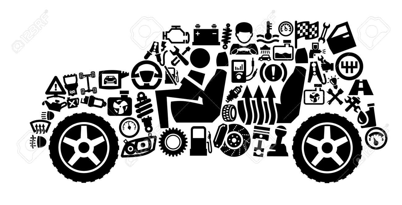 auto icons Stock Vector - 17241569