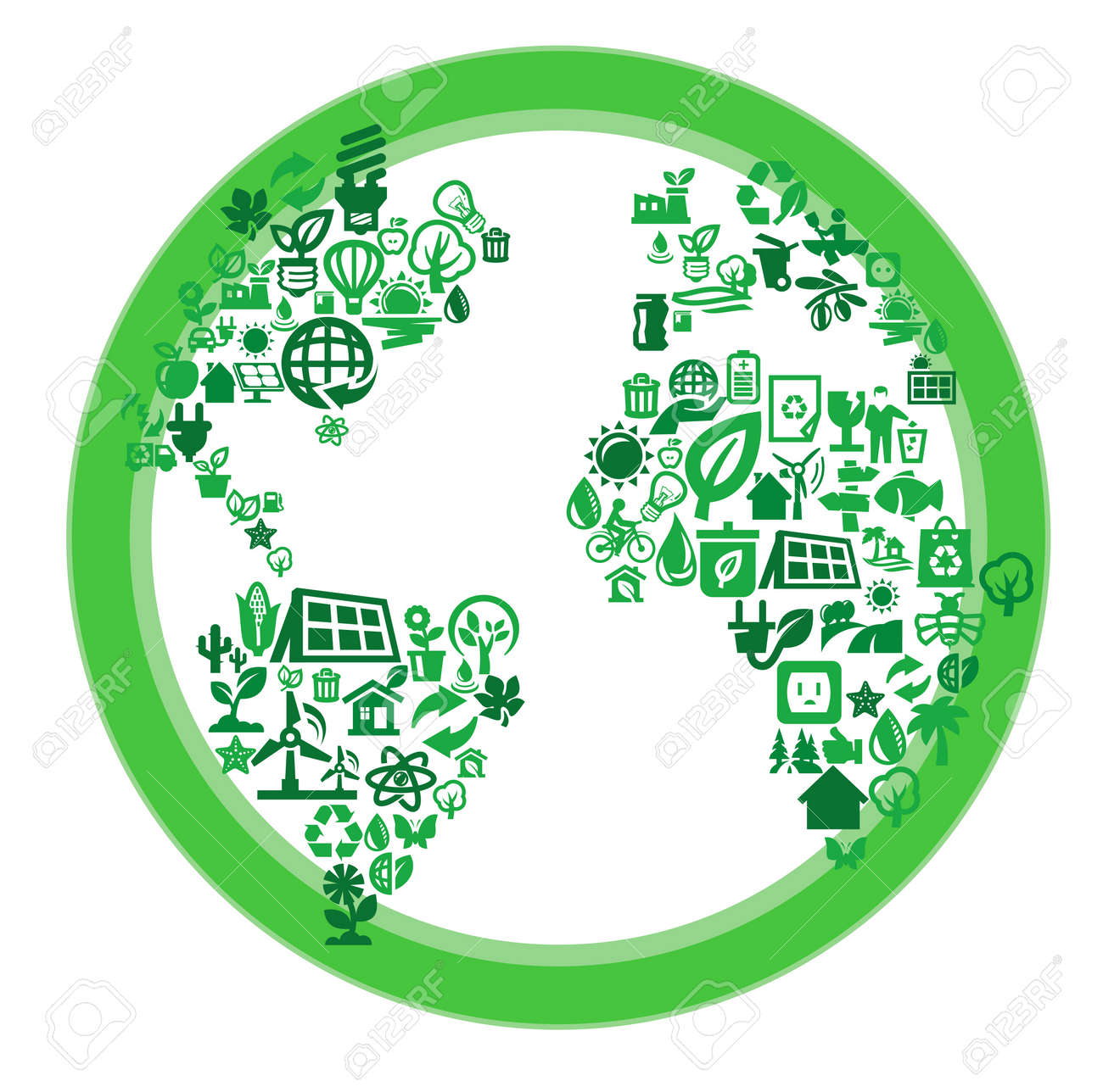 green eco world Stock Vector - 17274982