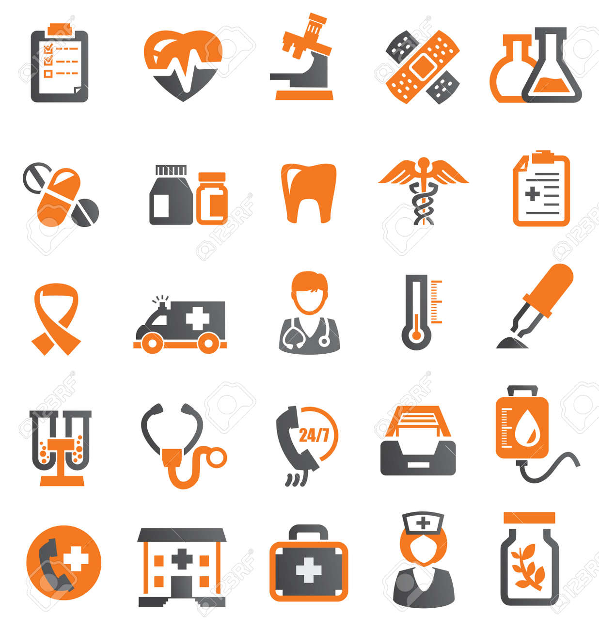 medical icons Stock Vector - 17351813