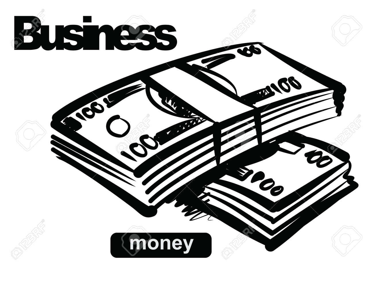 illustration of money Stock Vector - 17525043