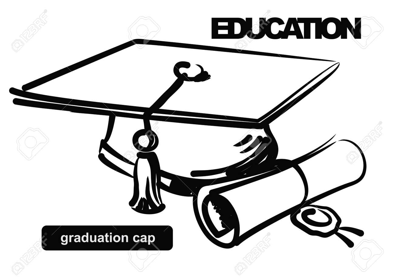 Free coloring pages graduation caps - Graduation Cap Illustration Of Graduation Cap