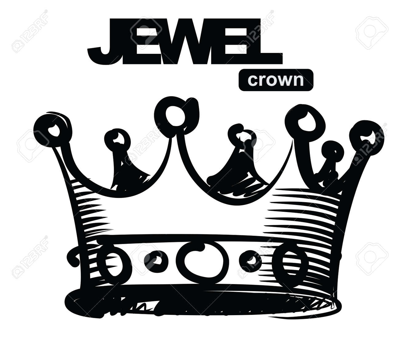 black crown Stock Vector - 17666812