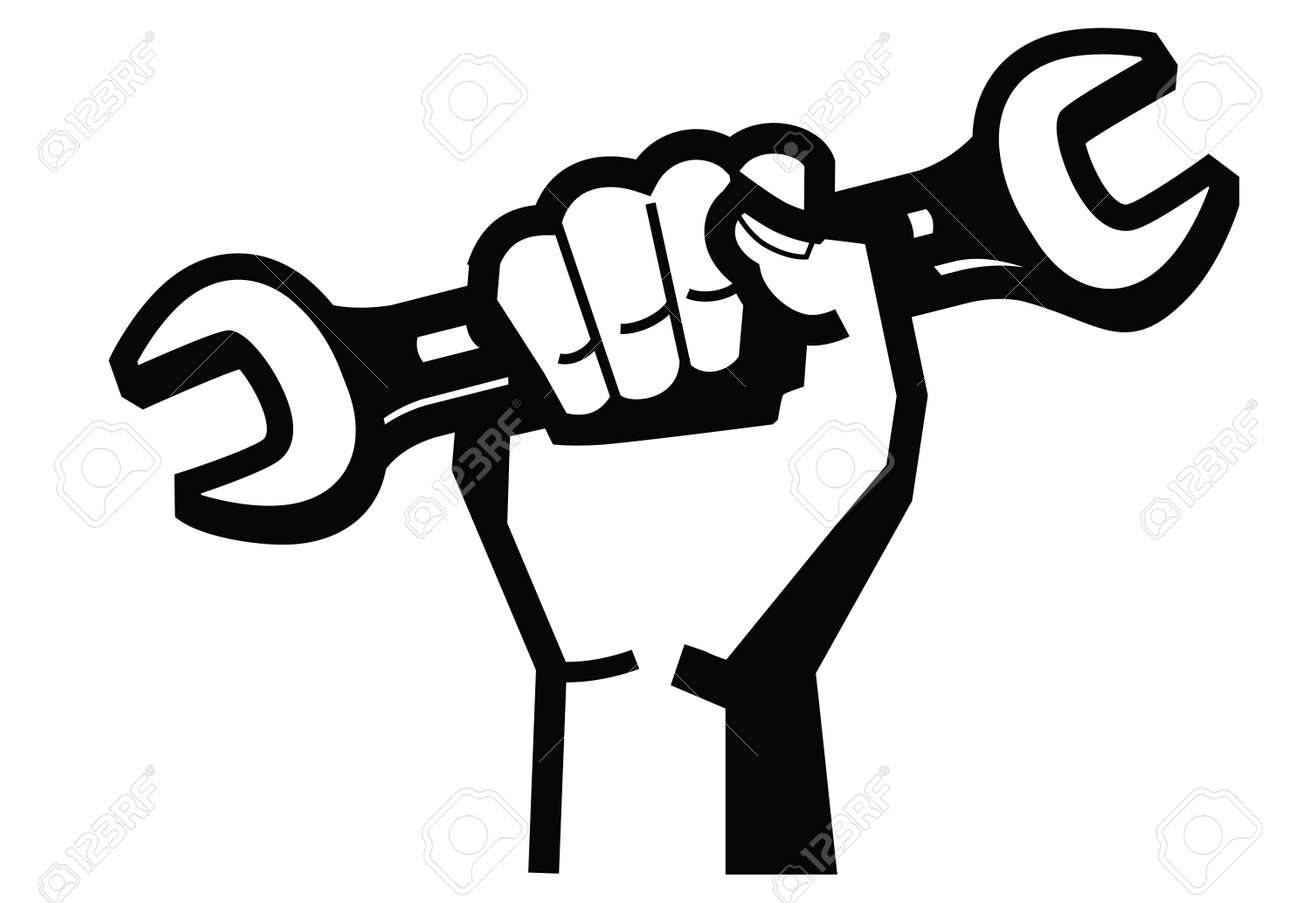 hand and wrench Stock Vector - 17667247