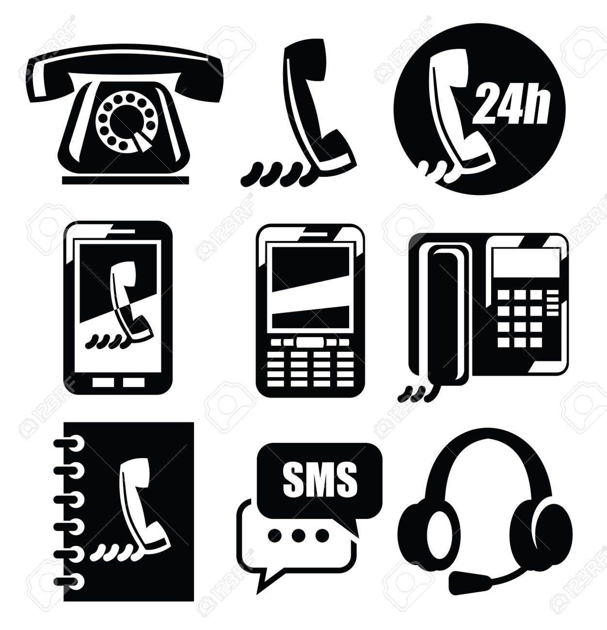 phone icons Stock Vector - 19046829