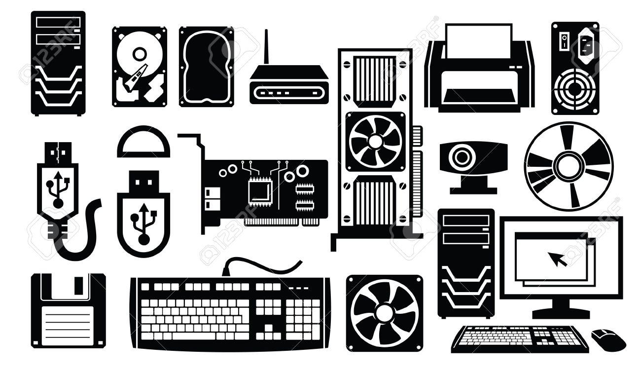 computer hardware icon Stock Vector - 19193937