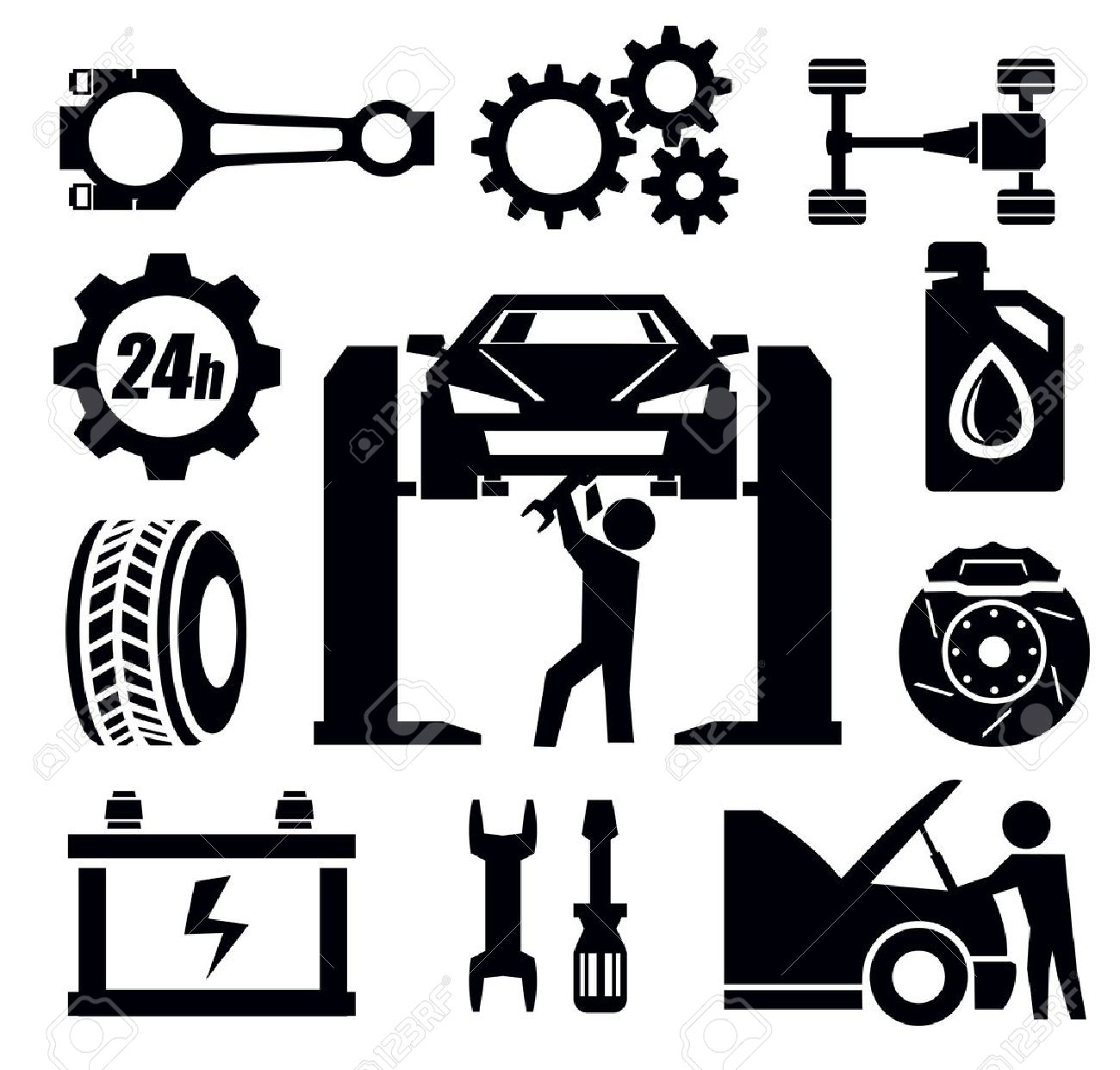 car repair icon Stock Vector - 19354288