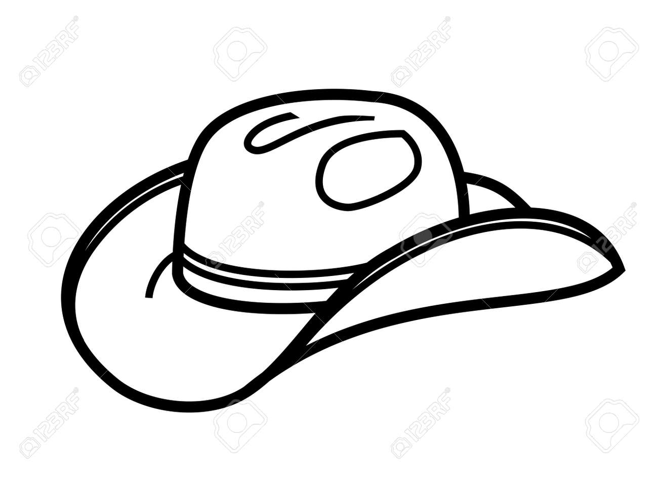 1f537d58f8240 vector black cowboy hat icon on white Stock Vector - 29539697